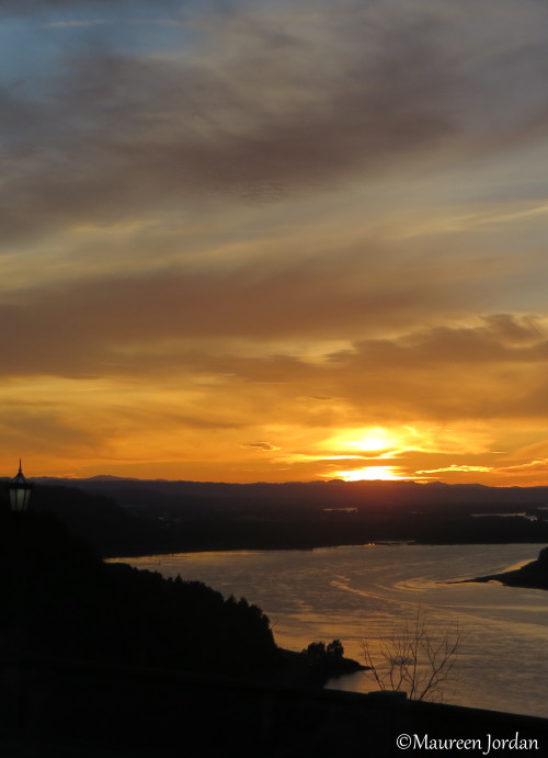 Sunset, Columbia River Gorge - from Vista House