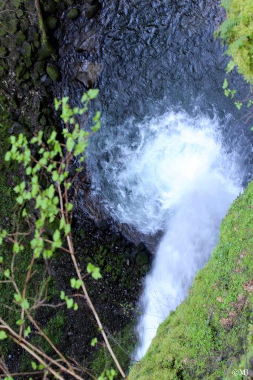 Looking down at Ponytail Falls