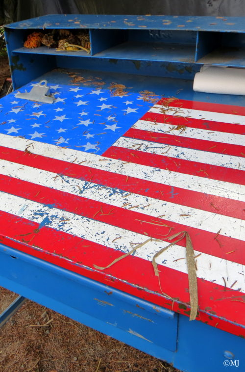 A piece of Americana - American Flag Desk