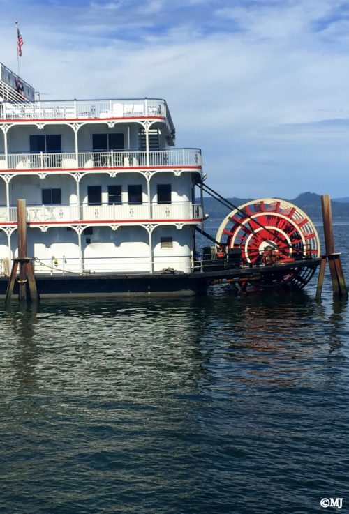 The American Empress paddle wheeler located behind the Maritime Museum in Astoria