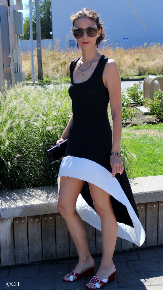 Black & white sundress