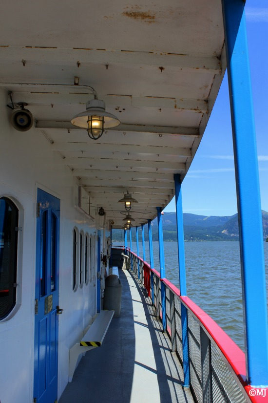 The side deck of the Sternwheeler