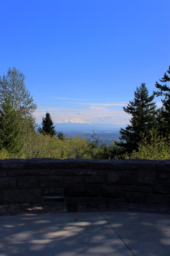 View of Mt Hood from the lookout area on Hogan Butte