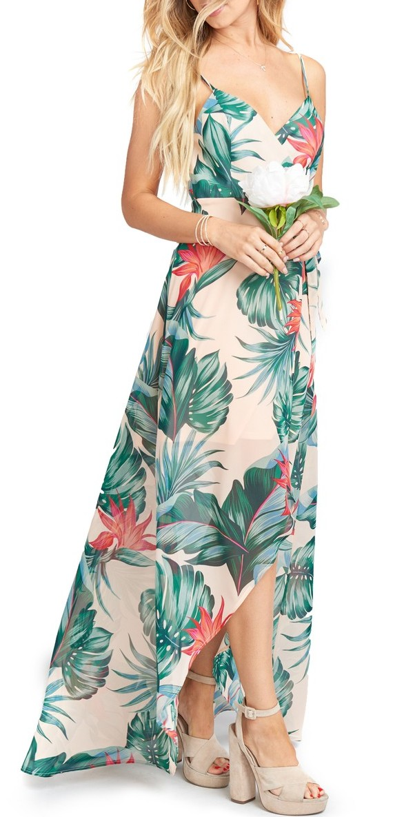 Mariah Wrap Maxi Dress