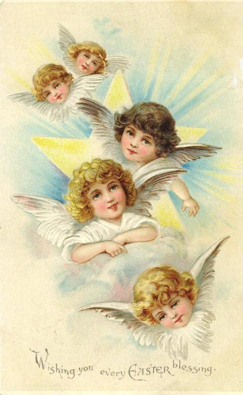 Four Easter Angels ~ Image courtesy of vintageholidaycrafts.com