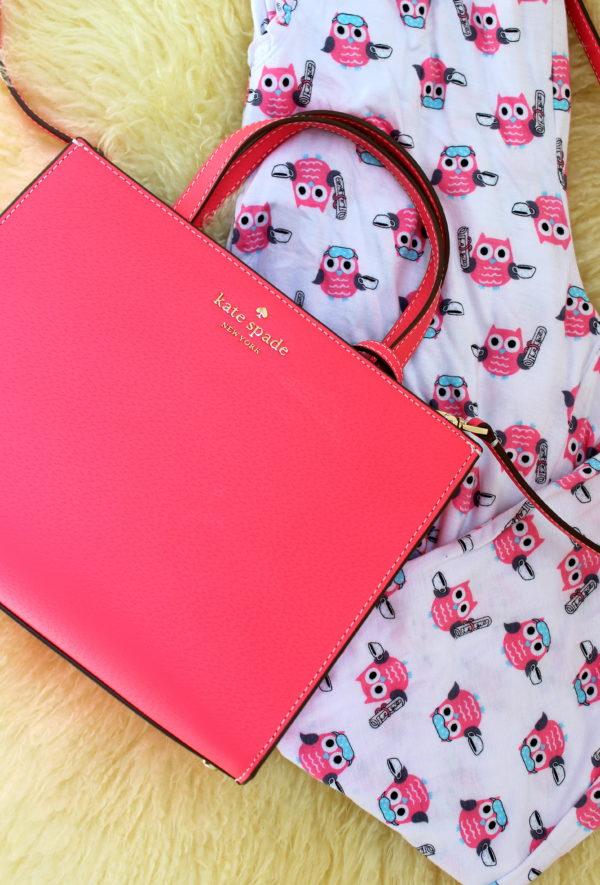 Kate Spade Purse in Flamingo Pink