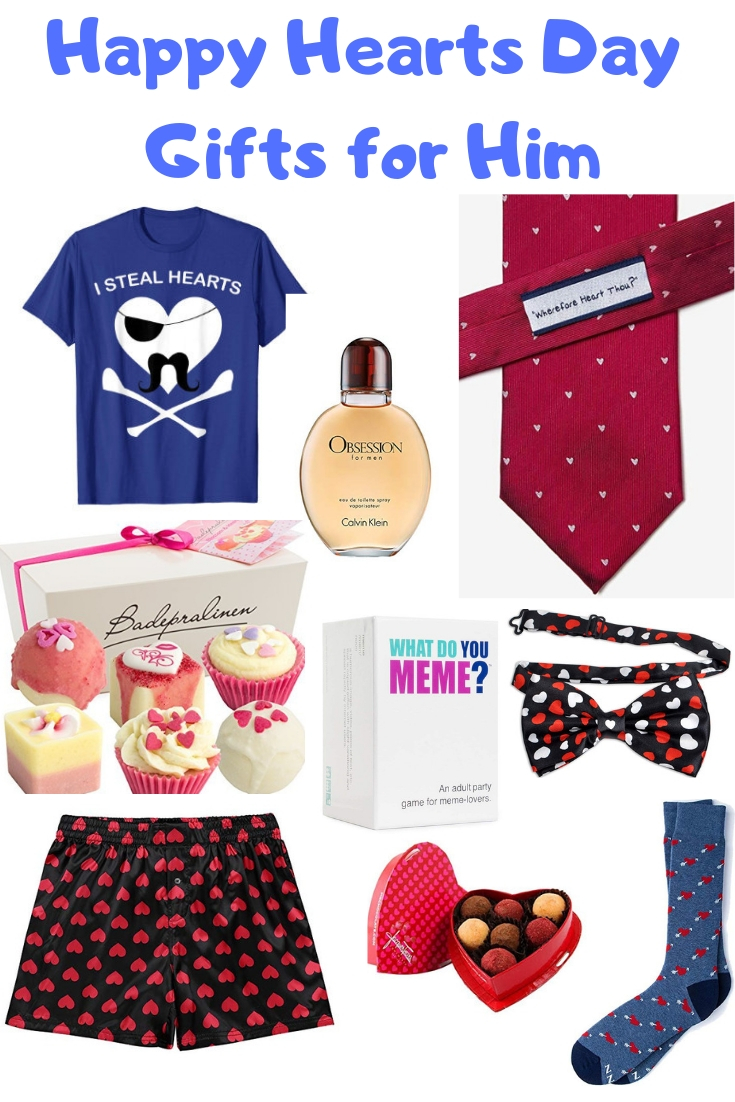 Happy Hearts Day gifts for him